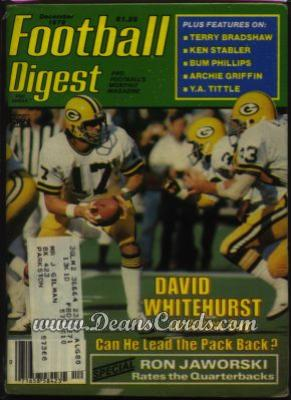 1979 Football Digest    December  - David Whitehurst