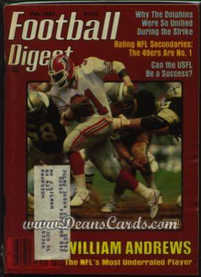 1983 Football Digest    February  - William Andrews