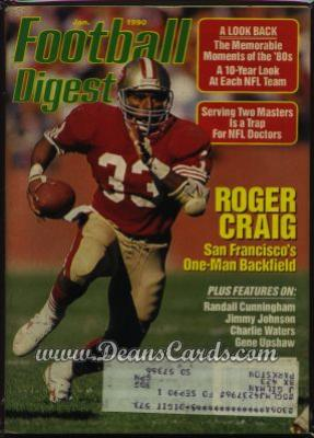 1990 Football Digest    January  - Roger Craig