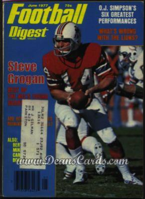 1977 Football Digest    May/June  - Steve Grogan