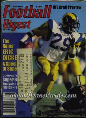 1985 Football Digest    May/June  - Eric Dickerson