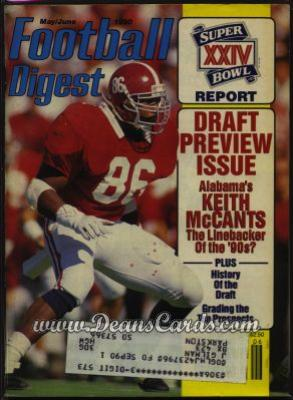 1990 Football Digest    May/June  - Keith McCants