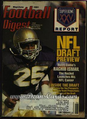 1991 Football Digest    May/June  - Raghib Ismail