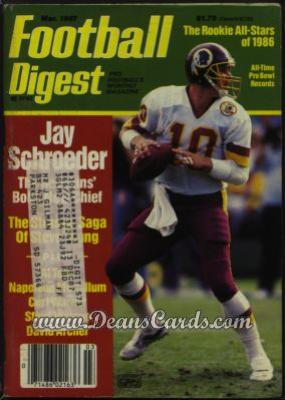 1987 Football Digest    March  - Jay Schroeder