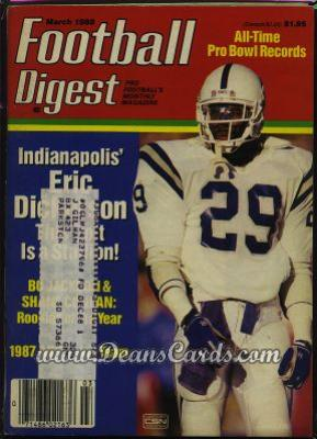 1988 Football Digest    March  - Eric Dickerson