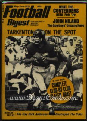 1972 Football Digest #0   -  John Brockington March