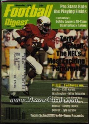 1976 Football Digest    November  - Terry Metcalf