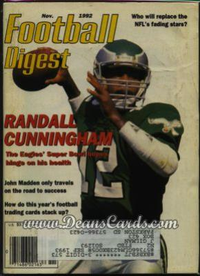 1992 Football Digest    November  - Randall Cunningham