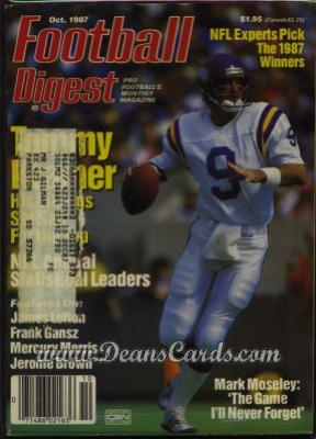 1987 Football Digest    October  - Tommy Kramer