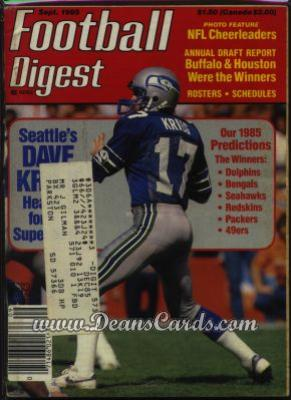 1985 Football Digest    September  - Dave Kreig