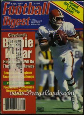 1987 Football Digest    September  - Bernie Kosar