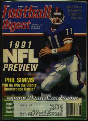 1991 Football Digest    September  - Phil Simms