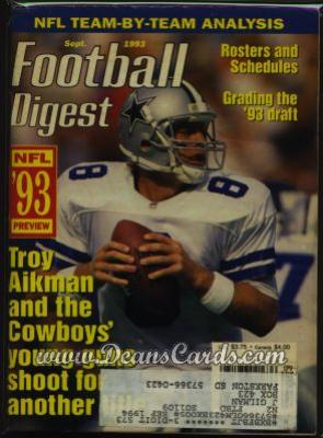 1993 Football Digest    September  - Troy Aikman