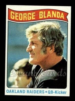 1975 Topps #7   -  George Blanda  Highlights