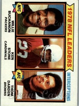 1979 Topps #5   -  Willie Buchanon / Ken Stone / Thom Darden Interception Leaders