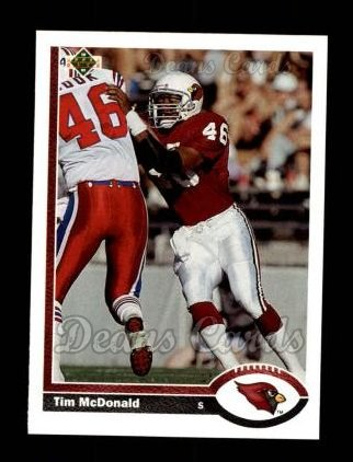 1991 Upper Deck #133  Tim McDonald