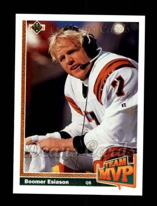 1991 Upper Deck #454   -  Boomer Esiason Team MVP