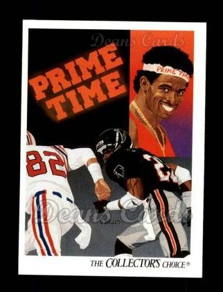 1991 Upper Deck #85   -  Deion Sanders Atlanta Falcons Team