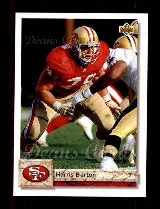 1992 Upper Deck #430  Harris Barton