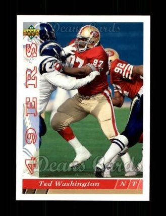 1993 Upper Deck #128  Ted Washington