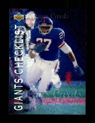 1993 Upper Deck #78   -  Rodney Hampton New York Giants-FB Team