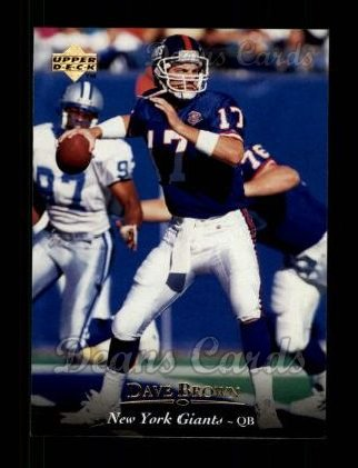 1995 Upper Deck #89  Dave Brown