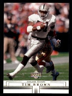 2001 Upper Deck #118  Tim Brown