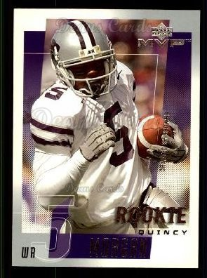 2001 Upper Deck MVP #316  Quincy Morgan