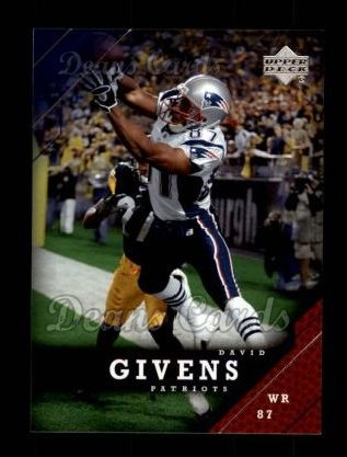 2005 Upper Deck #111  David Givens