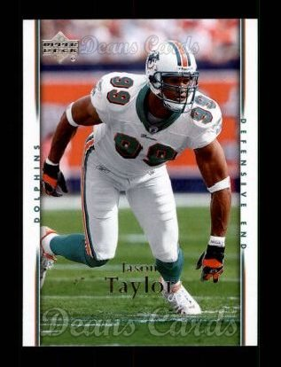 2007 Upper Deck #100  Jason Taylor