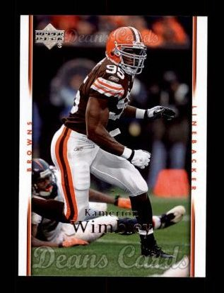 2007 Upper Deck #40  Kamerion Wimbley