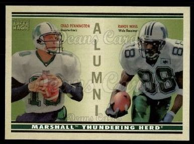 2009 Topps Magic Alumni #11 AD Chad Pennington / Randy Moss