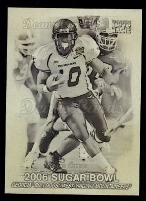 2009 Topps Magic Thrills #5 MT  -  Steve Slaton 2006 Sugar Bowl