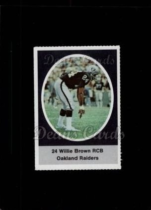 1972 Sunoco Stamps #477  Willie Brown