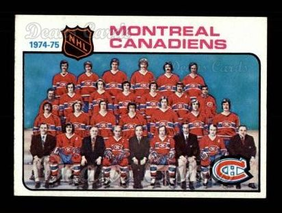 1975 Topps #90   Canadiens Team Checklist