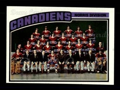 1976 Topps #141   Canadiens Team