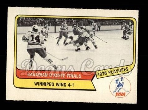 1976 O-Pee-Chee WHA #130   Canadian Finals