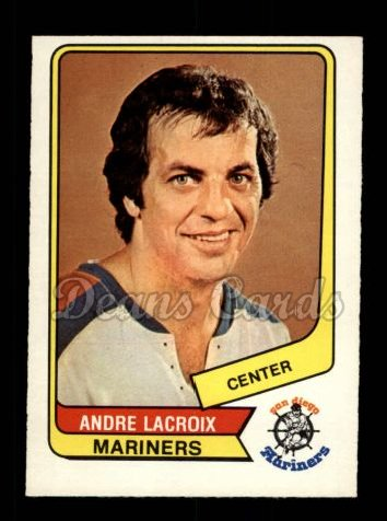 1976 O-Pee-Chee WHA #80  Andre Lacroix