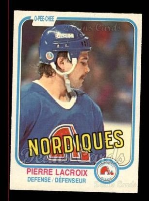 1981 O-Pee-Chee #278  Pierre Lacroix