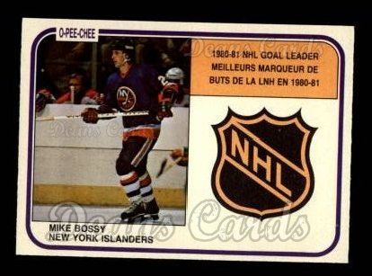1981 O-Pee-Chee #382   -  Mike Bossy League Leaders