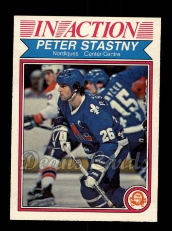 1982 O-Pee-Chee #293   -  Peter Stastny In-Action