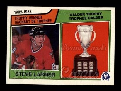 1983 O-Pee-Chees #206   -  Steve Larmer Calder Trophy