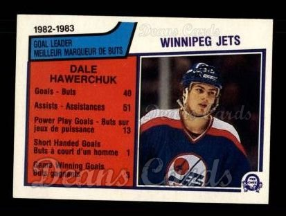1983 O-Pee-Chees #377   -  Dale Hawerchuk Jets Leaders
