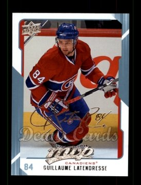 2008 Upper Deck MVP #161  Guillaume Latendresse