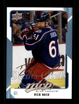 2008 Upper Deck MVP #83  Rick Nash