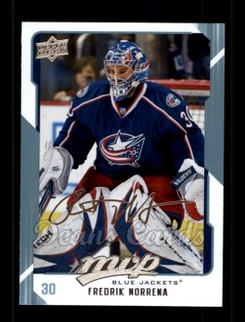 2008 Upper Deck MVP #86  Fredrik Norrena