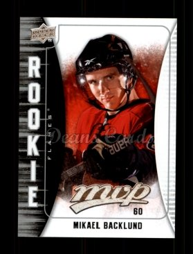 2009 Upper Deck MVP #313  Mikael Backlund