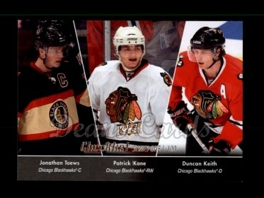 2010 Upper Deck #199   -  Jonathan Toews / Patrick Kane / Duncan Keith Checklist 1-100