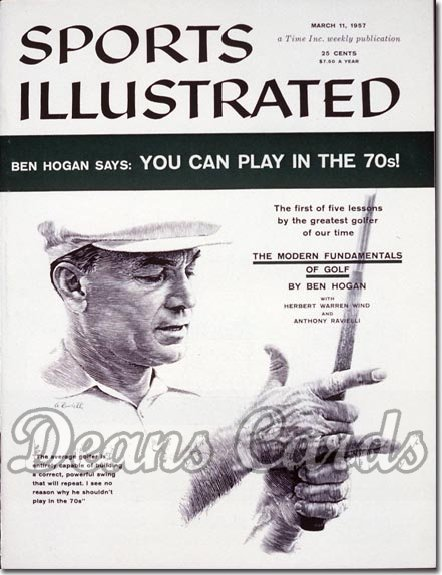 1957 Sports Illustrated - With Label   March 11  -  Ben Hogan Golf