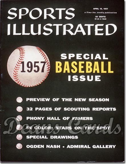 1957 Sports Illustrated - With Label   April 15  -  Baseball Issue